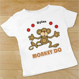 Personalized Monkey See, Monkey Do Infants Rompers and T-Shirts