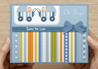 Oh Boys! Twin Shower Invitations - 10 Pack - ICD