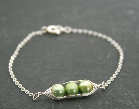 Two Peas in a Pod Bracelet (Additional Pea count option available)