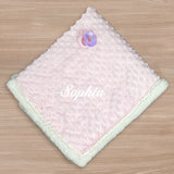 Personalized Baby Sherpa Blanket (Available in Pink and Blue)