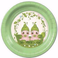 "Two Peas in a Pod Dessert Plates 7 "" - 8 Count"