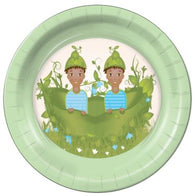 "Two Peas in a Pod Boys E 9"" Dinner Plates - 8 Count"