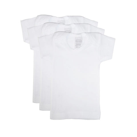 Preemie White Short Sleeve T-Shirt 3 Pack