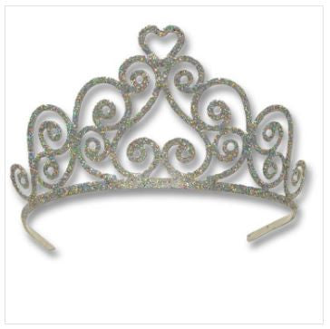 Princess Glitter Heart Tiara