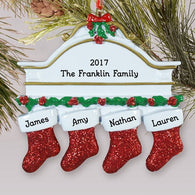 Personalized Red Hanging Stockings Ornament