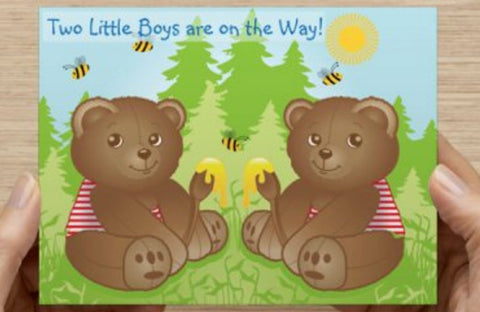 Teddy Bears - Boys Baby Shower Invitation - 10 Pack - ICD