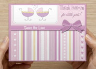 Thank Heaven for Little Girls - Twin Shower Invitation - 10 Pack - ICD