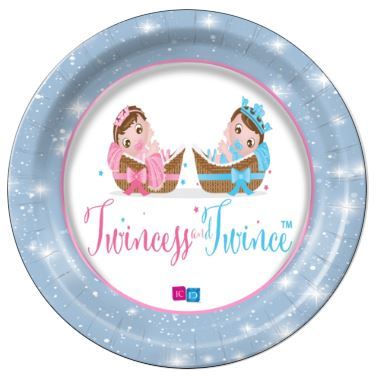 "Twincess and Twince - Babies - 9"" Dinner Plates - 8 Count"
