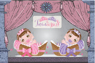 D - Twincesses Baby Shower Invitations - 10 Pack - ICD