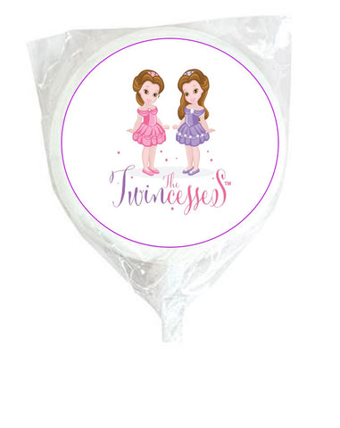 Twincesses White Swirl Lollipops - 12 Pack