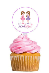 The Twincesses Cupcake Picks - 12 Pack