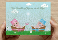 Twins Girl and Boy Shower Invitations - 10 Pack - ICD (Bundles of Joy)