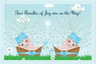 Boys Twin Shower Invitations - 10 Pack - ICD (Bundles of Joy)