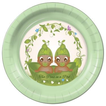 "Two Peas in a Pod E  7"" Dessert Plates - 8 Count"
