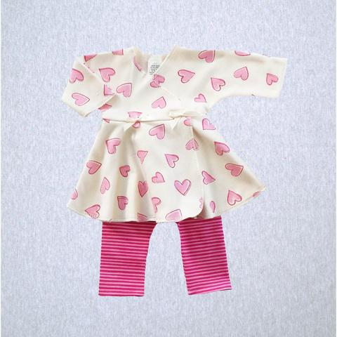Preemie Wrap Dress with Leggings (XS - up to 3 lbs) Available in Multiple Colors