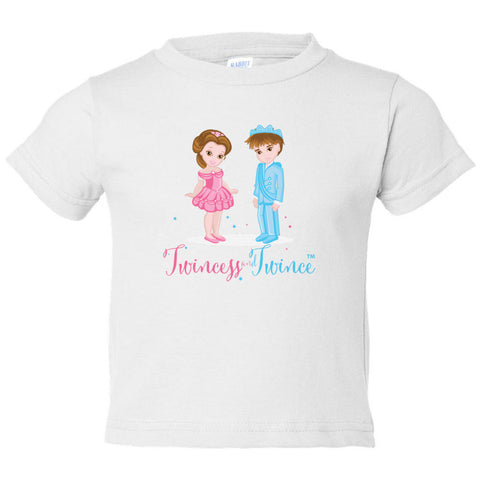 """Twincess and Twince"" Toddler Tee (2T-4T) Available in Multiple Colors"