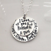 Personalized I Love You a Bushel and a Peck Necklace