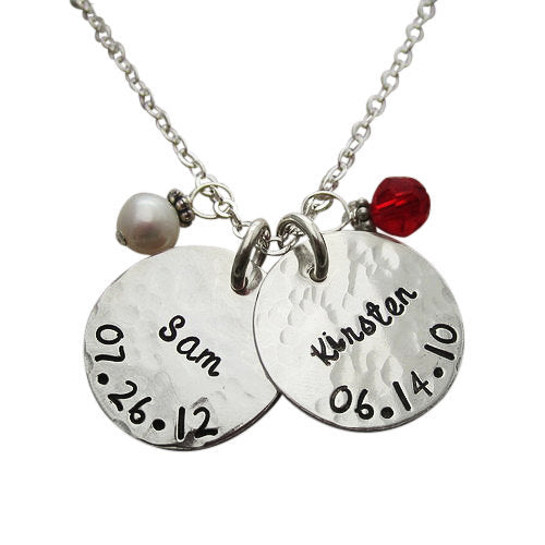 Personalized Name and Birthdate Necklace ($52+)