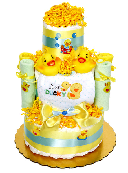 Twins Just Ducky Diaper Cake