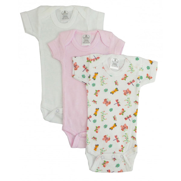 Preemie Girls Short Sleeve Onezie 3-Pack