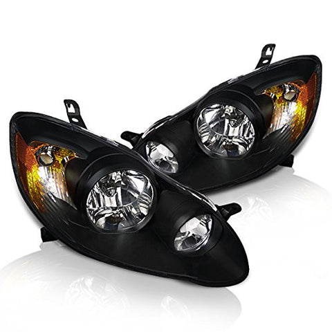 Instyleparts Toyota Corolla Clear Lens Headlights with Black Housing