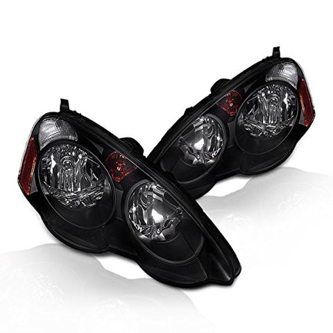 Instyleparts Acura RSX DC5 Clear Lens Headlights with Black Housing