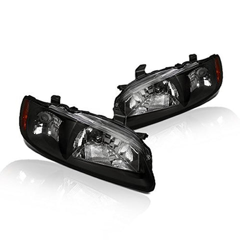 Instyleparts Nissan Sentra Clear Lens Headlights with Black Housing