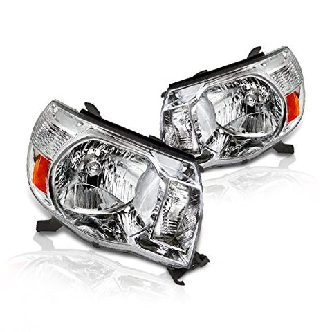Instyleparts Toyota Tacoma Clear Lens Headlights with Chrome Housing