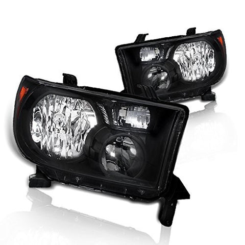 Instyleparts Toyota Tundra Sequoia Clear Lens Headlights with Black Housing