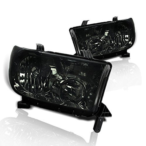 Instyleparts Toyota Tundra Sequoia Smoke Lens Headlights with Chrome Housing