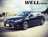 11-16 LEXUS CT200H WellVisors Side Window Wind Deflector Visors