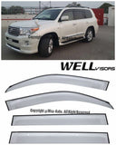08-16 TOYOTA LAND CRUISER WellVisors Side Window Wind Deflector Visors