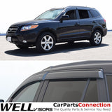 07-12 HYUNDAI SANTA FE WellVisors Side Window Wind Deflector Visors