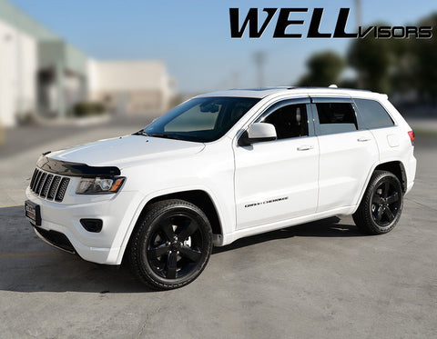 11-16 JEEP GRAND CHEROKEE WellVisors Side Window Wind Deflector Visors