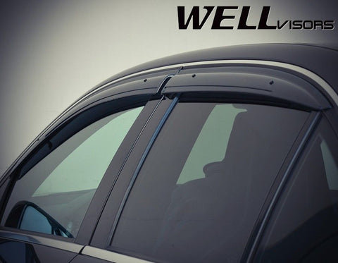 08-14 MERCEDES BENZ W204 WellVisors Side Window Wind Deflector Visors