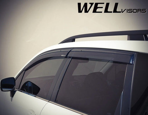 14-16 SUBARU FORESTER WellVisors Side Window Wind Deflector Visors