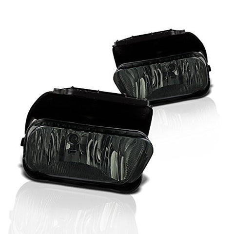 Instyleparts Chevy Chevrolet Silverado Avalanche Smoke Lens Fog Lights with Chrome Housing