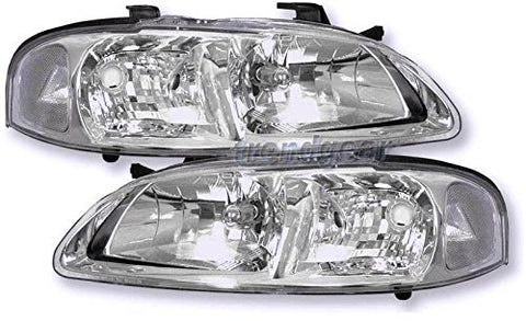 Instyleparts Nissan Sentra Clear Lens Headlights with Chrome Housing