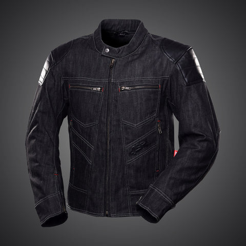 4SR ROWDIE DENIM JACKET BLACK - Blouson textile