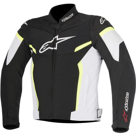 ALPINESTARS T-GP PLUS R V2 BLACK WHITE YELLOW FLUO - Veste Textile