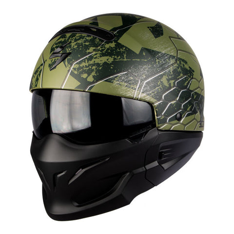 Scorpion EXO Combat Ratnik Mat Green - Casque intégral transformable