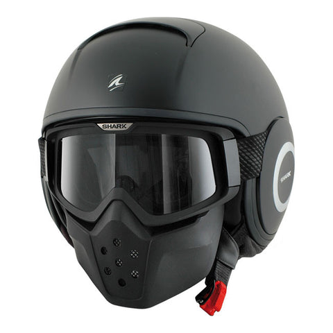 Shark Drak Mat Black - Casque Jet