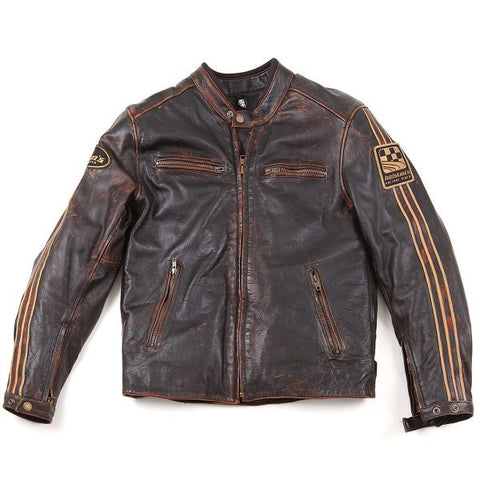 HELSTONS ACE OLDIES MARRON - Blouson Cuir