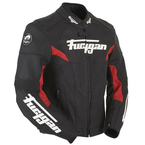 FURYGAN BLADE BLACK RED - Blouson Cuir