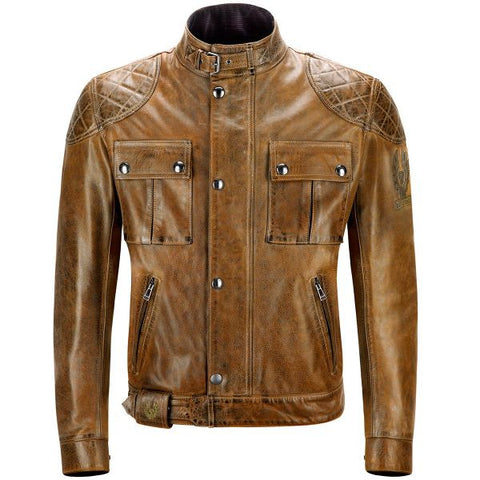 BELSTAFF BROOKLANDS LEATHER BURNT CUREO - Blouson Cuir