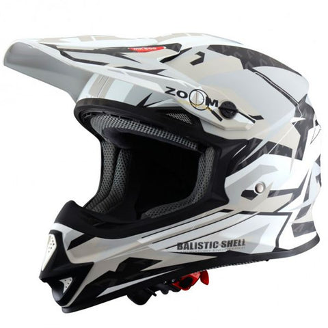 ASTONE MX 600 GIANT WHITE BLUE SAND - Casque Cross