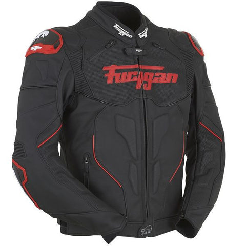 FURYGAN RAPTOR BLACK RED - Blouson Cuir