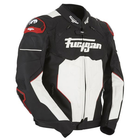 FURYGAN RAPTOR BLACK WHITE RED - Blouson Cuir