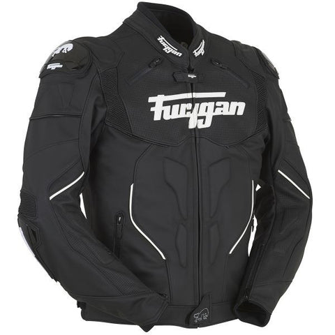 FURYGAN RAPTOR BLACK WHITE - Blouson Cuir