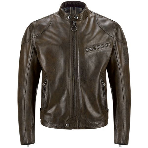 BELSTAFF SUPREME BLACK BROWN - Blouson Cuir